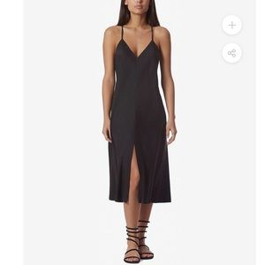 Anthro avec les filles le village slip black dress